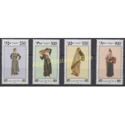 Palestine - 1995 - No 30/33 - Costumes uniformes