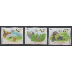 Angola - 2006 - No 1609/1611 - Oiseaux - Chiens