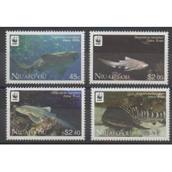 Tonga - 2012 - Nb 317/320 - Sea animals - Endangered species - WWF