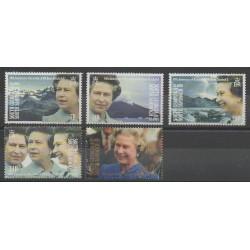 Falkland-Géorgie du Sud et Sandwich du Sud - 1992 - No 214/218 - Royauté - Principauté