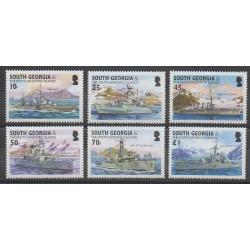 Falkland-Géorgie du Sud et Sandwich du Sud - 2004 - No 375/380 - Navigation