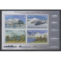 Falkland-Géorgie du Sud et Sandwich du Sud - 2007 - No 428/431 - Hélicoptères - Histoire