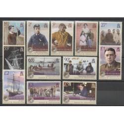 Falkland-Géorgie du Sud et Sandwich du Sud - 2009 - No 457/468 - Célébrités
