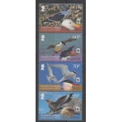 Falkland-Géorgie du Sud et Sandwich du Sud - 2012 - No 542/545 - Oiseaux - Espèces menacées - WWF