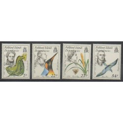 Falkland-Géorgie du Sud - 1985 - No 149/152 - Célébrités
