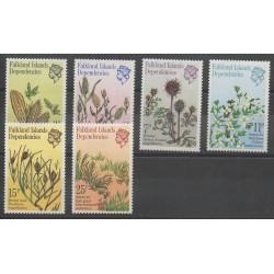 Falkland-Géorgie du Sud - 1981 - No 92/97 - Fleurs