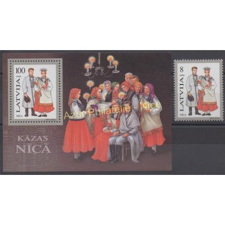 Latvia - 1995 - Nb 367 - BF 5 - Costumes