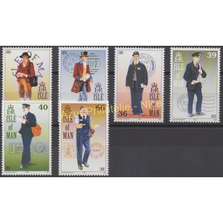 Man (Ile de) - 2001 - No 950/955 - Service postal