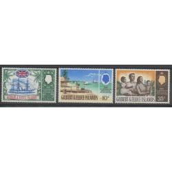 Kiribati - Gilbert et Ellice - 1967 - No 127/129 - Histoire