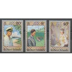 Kiribati - Gilbert - 1977 - No 41/43 - Royauté - Principauté
