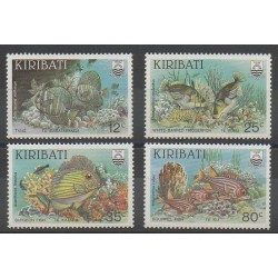 Kiribati - 1985 - Nb 130/133 - Sea animals