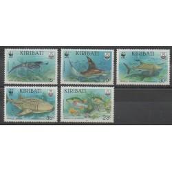 Kiribati - 1991 - No 238/242 - Animaux marins