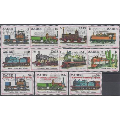 Zaire - 1980 - Nb 962/969 - 1020 - 2021 - 1023 - Trains