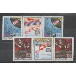 Yugoslavia - 1990 - Nb 2285/2286 - paire - Music