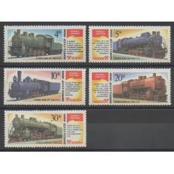 Russia - 1986 - Nb 5347/5351 - Trains