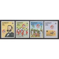Kiribati - 1988 - No 181/184 - Santé ou Croix-Rouge - Timbres sur timbres