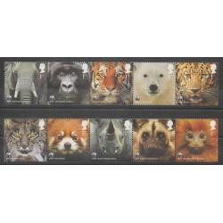 Grande-Bretagne - 2011 - No 3450/3459 - Espèces menacées - WWF