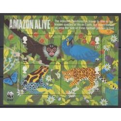 Grande-Bretagne - 2011 - No BF82 - Espèces menacées - WWF