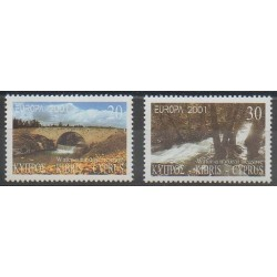 Chypre - 2001 - No 984/985 - Ponts - Europa