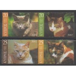 Cyprus - 2002 - Nb 994/997 - Cats