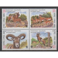 Cyprus - 1998 - Nb 920/923 - Mamals - Endangered species - WWF