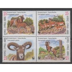 Chypre - 1998 - No 920/923 - Mammifères - Espèces menacées - WWF