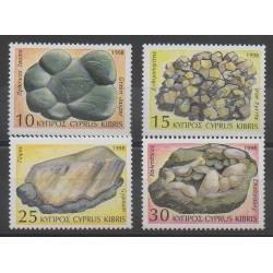 Chypre - 1998 - No 911/914 - Minéraux - Pierres précieuses