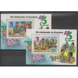 Tchad - 1982 - No PA244/PA245 Bloc-feuillet - Scoutisme