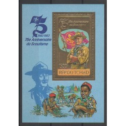 Chad - 1982 - Nb PA248 Bloc-feuillet - Scouts