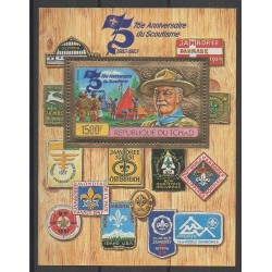 Tchad - 1983 - No PA267 Bloc-feuillet - Scoutisme