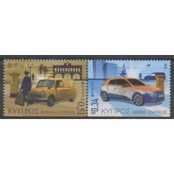 Chypre - 2013 - No 1263a/1264a - Service postal - Voitures - Europa