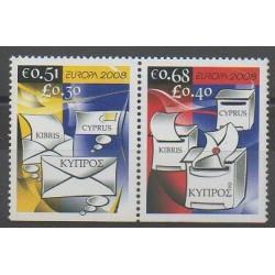 Chypre - 2008 - No 1139a/1140a - Service postal - Europa