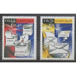 Chypre - 2008 - No 1139/1140 - Service postal - Europa