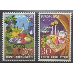 Chypre - 2005 - No 1064/1065 - Gastronomie - Europa