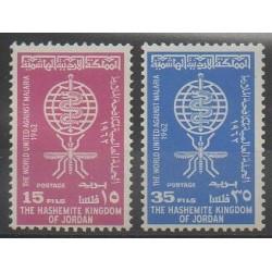 Jordanie - 1962 - No 349/350 - Santé ou Croix-Rouge