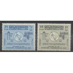 Jordan - 1965 - Nb 487/488 - Telecommunications
