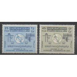 Jordanie - 1965 - No 487/488 - Télécommunications