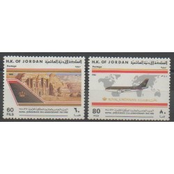 Jordanie - 1988 - No 1263/1264 - Aviation