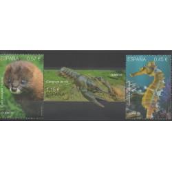 Espagne - 2016 - No 4791/4793 - Mammifères - Animaux marins - Espèces menacées - WWF