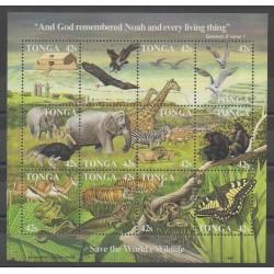 Tonga - 1987 - No 656/667 - Religion - Mammifères - Oiseaux