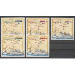 Tonga - 1972 - Nb 282/286 - Boats
