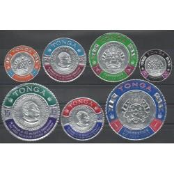 Tonga - 1967 - No 175/181 - Monnaies, billets ou médailles