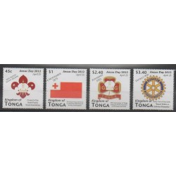 Tonga - 2012 - No 1290/1293 - Scoutisme - Rotary
