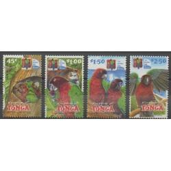 Tonga - 2002 - No 1215/1218 - Oiseaux