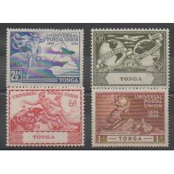 Tonga - 1949 - No 87/90 - Service postal - Neuf avec charnière