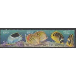 Tonga - 1998 - No 1135/1137 - Animaux marins