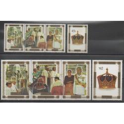 Tonga - 1997 - No 1091/1098 - Royauté - Principauté