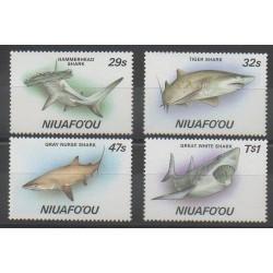 Tonga - Niuafo'ou - 1987 - Nb 90/93 - Sea animals