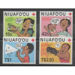 Tonga - Niuafo'ou - 1987 - No 86/89 - Santé ou Croix-Rouge