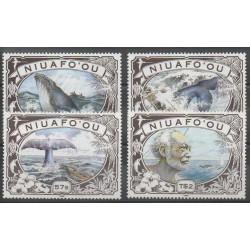 Tonga - Niuafo'ou - 1990 - Nb 129/132 - Mamals - Sea animals